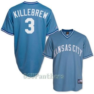Harmon Killebrew Kansas City Royals Cooperstown Blue Mens Jersey Sz M