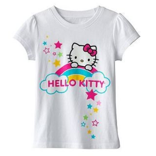 Hello Kitty Girls White Short Sleeve Tee Shirt $20