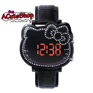 Chouette Hello Kitty LED Display Watch CRK1002 Leather