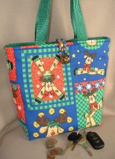 Rudolph The Red Nose Reindeer Handbag Purse