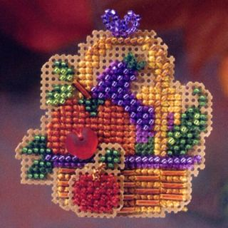 Bounty Beaded Cross Stitch Kit Mill Hill 2006 Autumn Harvest