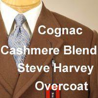 48L Steve Harvey CASHMERE WOOL Blend Mens Overcoat Topcoat Coat 48