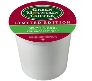 Green Mountain Spicy Eggnog Keurig 96 K Cups  Exp 8 2512