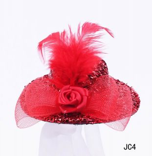Women Fashion Hair Decoration Hat Clip Clamp Party Wedding JC4