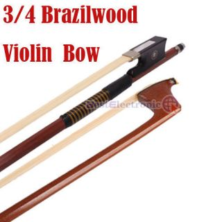New High Quality Brazilwood Octagonal Violin Bow 3 4