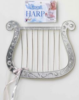 New Plastic Silver Angel Harp Costume Accessory Halloween Costume Prop