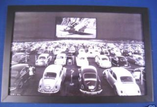VW Herbie The Love Bug # 53 Framed Print Art Picture Drive In Movie