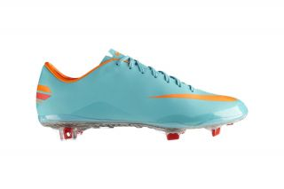 Nike Mercurial Vapor VIII Mens FG Mint Orange Boot Cleats Shoes