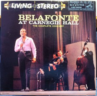 Living Stereo DG HARRY BELAFONTE at carnegie hall 2 LP VG+ LSO 6006