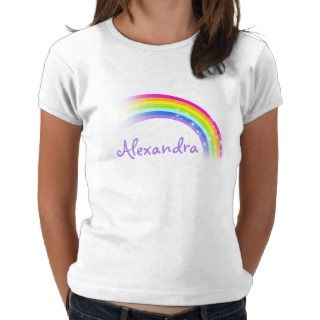 Your name (9 letter) rainbow violet girls top T Shirts