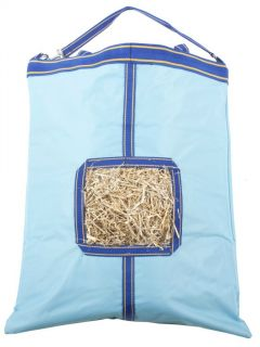 Aqua and Blue Horse Heavy Duty Hay Bag Bags