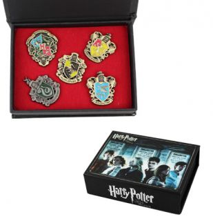 New Harry Potter Hogwarts House Metal Pin Badge Set of 5pcs