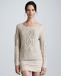 Haute Hippie Aran Sequined Sweater