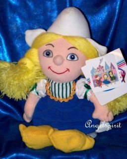 Disney Its A Small World Holland Girl Stuffed Plush Beanbag Disney