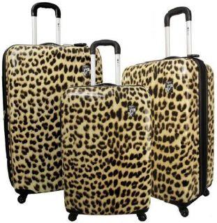 Heys USA Safari Exotic Expandable Luggage Set Leopard