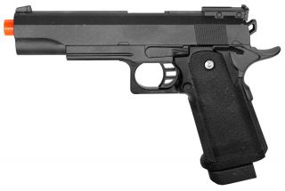 Heavy Weight Black AirSoft Hand Gun With Metal Slide New Item Like