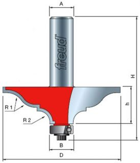 Freud 99 450 2 1/2 Inch Diameter Table Edge and Hand Rail Router Bit