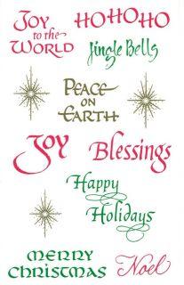 Mrs Grossman Sticker   CHRISTMAS CAPTIONS Joy Merry Christmas Jingle