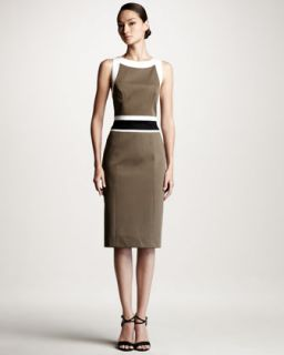 Carolina Herrera Colorblock Stretch Cotton Dress