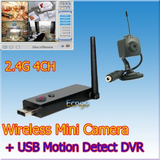 Wireless USB DVR Spy Video Hidden Security Camera Kit