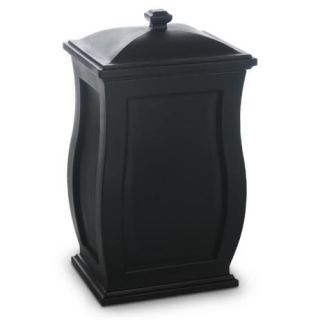 Mansfield 32 Multi Purpose Outdoor Storage Bin Trash Can Black