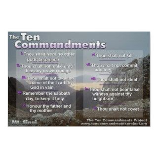 The Ten Commandments are Gods rules for living. This beautiful