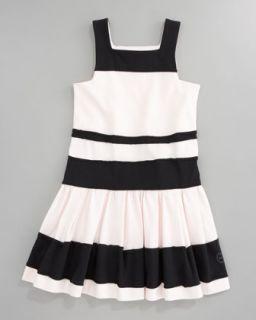48F1 Baby Dior Striped Jersey Dress