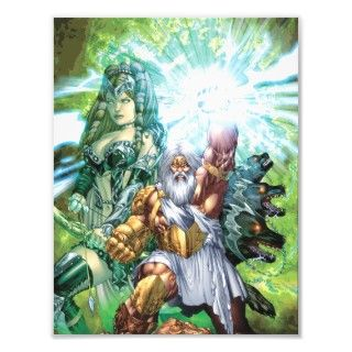 Godstorm #1 Greek God Zeus with Thunderbolt Photographic Print