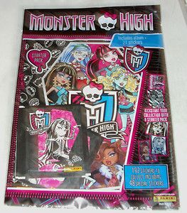 Panini Monster High Sticker Collection Starter Pack Album 21 stickers
