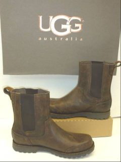 UGG HERRICK #3032 MENS 8 BOOT BROWN 100%AUTHENTIC LEATHER NEW ROCKER