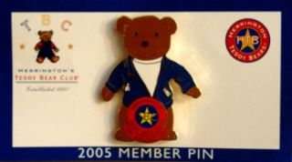 Herrington Teddy Bear Club 2005 Member Pin Mint on Card