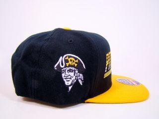 Pirates Snapback Hat Black Headline Logo American Needle MLB