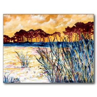 Corporate Art Gulf Coast Landscape Painting Post Cards