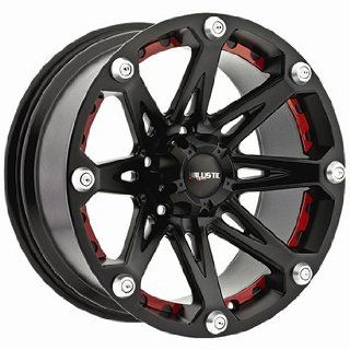 Ballistic Jester 17x9 Black Wheel / Rim 5x5 with a  12mm Offset and a