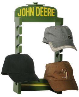 John Deere Tractor Wood Rack Ball Cap Hat Rack