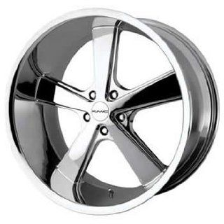 KMC KM701 20x10 Chrome Wheel / Rim 5x5 with a 18mm Offset and a 78.30