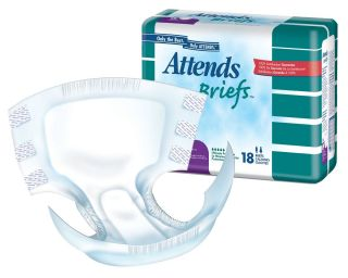 Attends Briefs 10 Waistband Style Large Case of 72