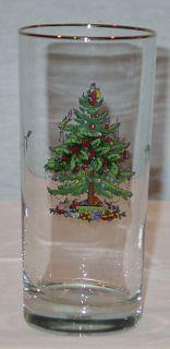 Christmas Tree Set of 4 Highball Glasses New in Original Box