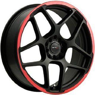 Drifz Monoblock 17x7.5 Black Red Wheel / Rim 4x100 & 4x4.5 with a 42mm