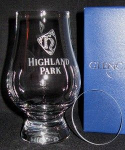HIGHLAND PARK GLENCAIRN SCOTCH WHISKY GLASS & WATCH COVER