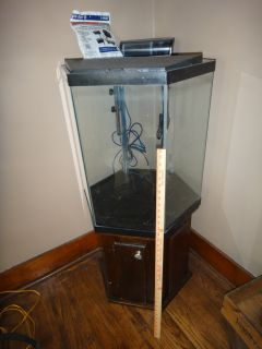 Aqueon 15 gallon column tropical fish tank aquarium w stand for 37 gallon fish tank
