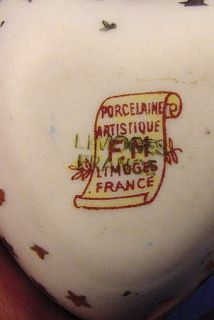 Vintage Limoges Heart Shaped Trinket Box Puppy Valentines Day