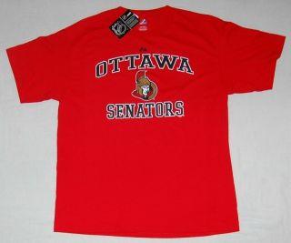Ottawa Senators Heart Soul ll T Shirt Majestic XXL
