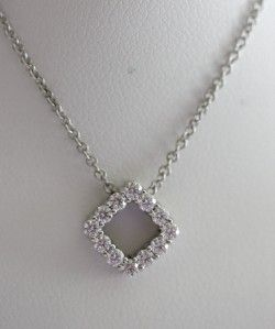 Hearts on Fire 18K White Gold Whimsical Mini Square Diamond Pendant