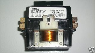 Central Heat AC Contactor Relay 24 Volt Coil 2 Pole