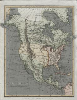 North America 1811 Macpherson Cooper Antique Engraved Hand Color Map