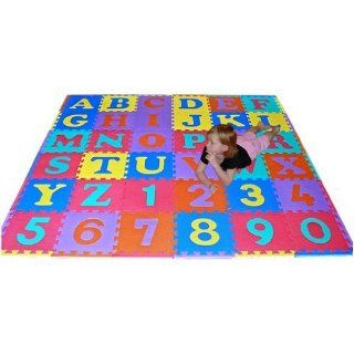 We Sell Mats 36 Sq Ft Alphabet and Number Floor Mat Baby