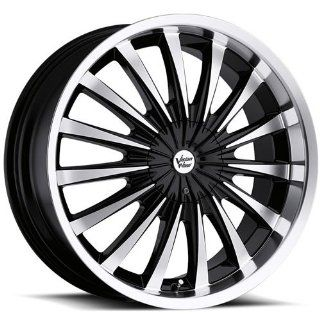 Vision Shattered 18 Machined Black Wheel / Rim 5x4.5 & 5x4.75 with a