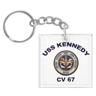 CV 67 USS John Kennedy Square Acrylic Key Chains