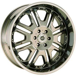 JR Tank 22x9.5 Black Chrome Wheel / Rim 5x4.5 with a 30mm Offset and a